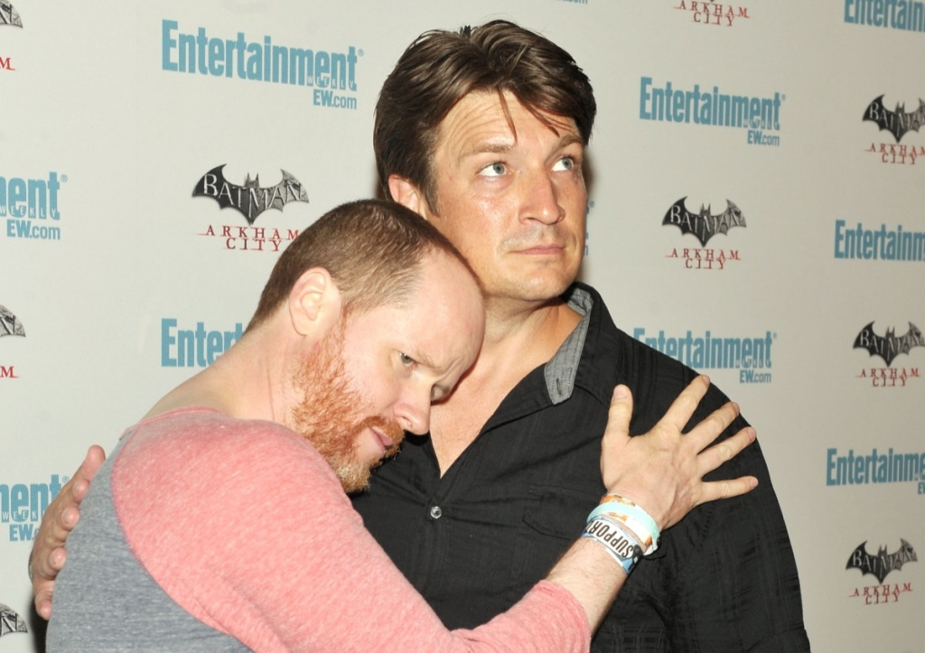 Actors Joss Whedon and Nathan Fillion attend Entertainment Weekly's 5th Annual Comic-Con Celebration held at Float, Hard Rock Hotel San Diego on July 23, 2011 in San Diego.