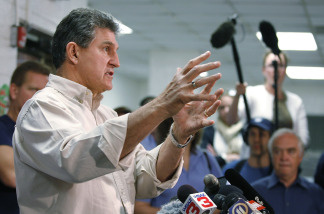 West Virginia Governor Joe Manchin speaks to the media during a press conference on April 8, 2010 in Montcoal, West Virginia.