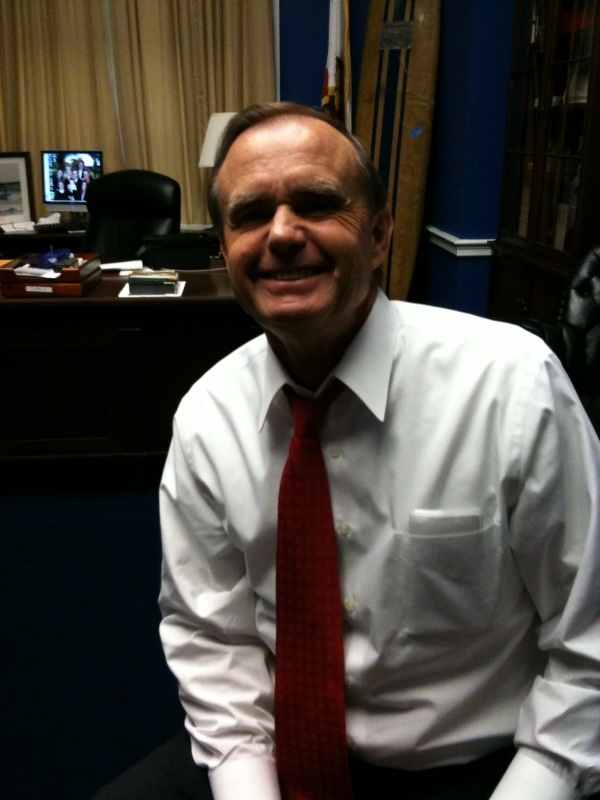 Congressman Brian Bilbray, Chair of House Immigration Reform Caucus, is leaving Capitol Hill after three terms and taking his surfboard with him.