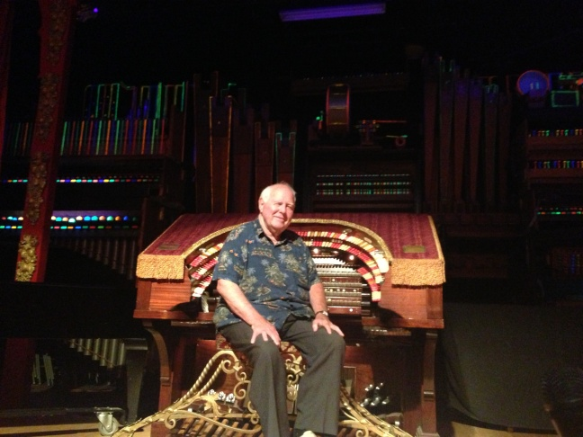 Bill Field at the helm of the Mighty Wurlitzer.