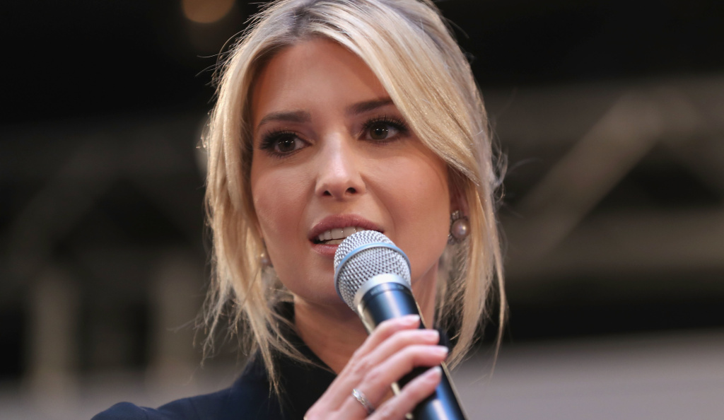 Ivanka Trump is pictured in Munich, Germany in February. She spoke in Washington Saturday night at the annual Gridiron dinner of Washington's elite.