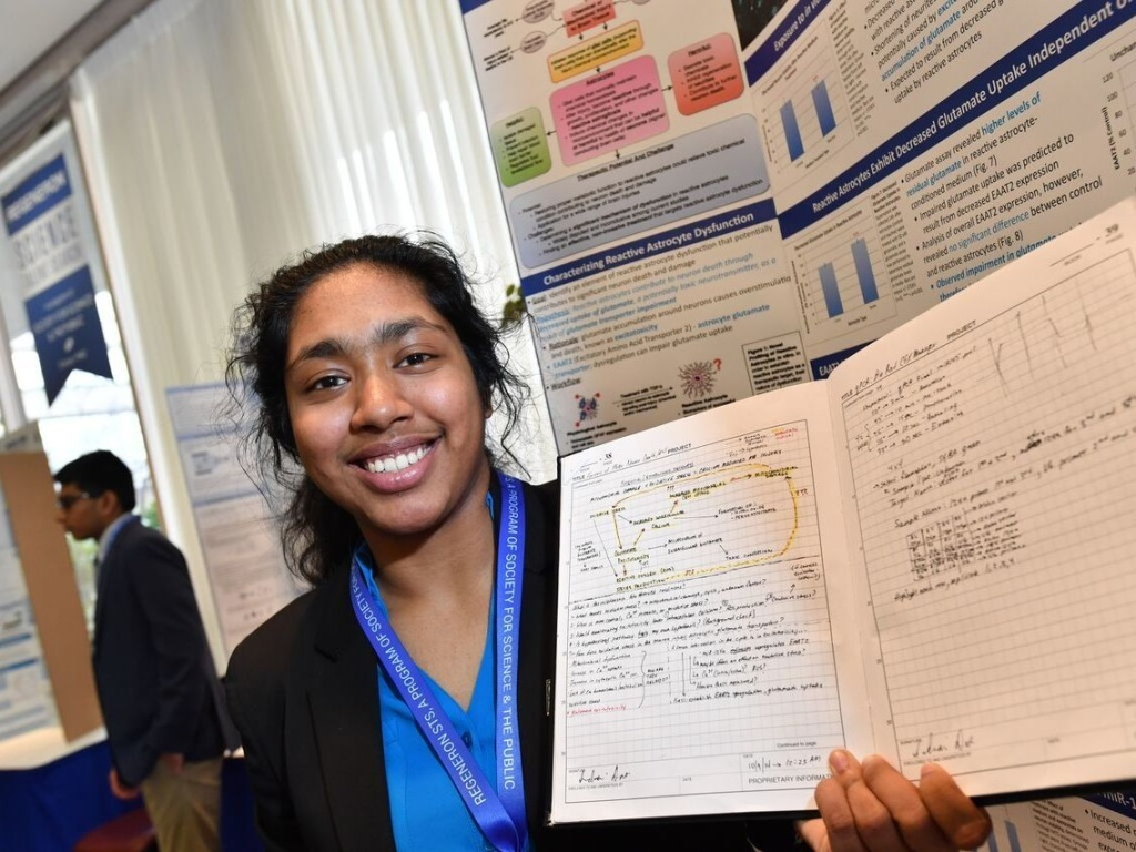 Indrani Das, an Indian-American, took home this year's top high school science prize, the Regeneron Student Talent Search.