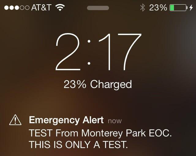 Many AT&T customers received this message Wednesday from Monterey Park.