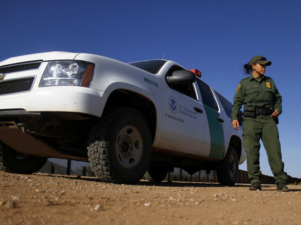A U.S. Border Patrol agent in September 2011, along the Mexico-Arizona border. According to one new analysis, Border Patrol agents are less at risk for assault on the job than police officers.