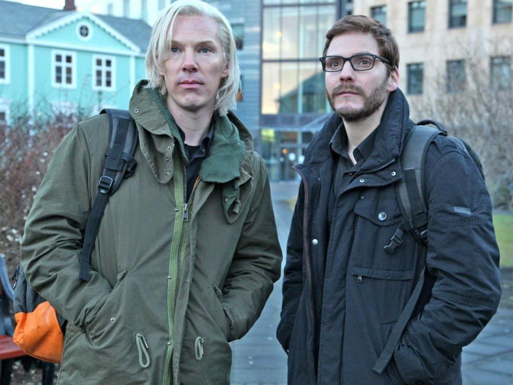 Benedict Cumberbatch (L) and director Bill Condon of