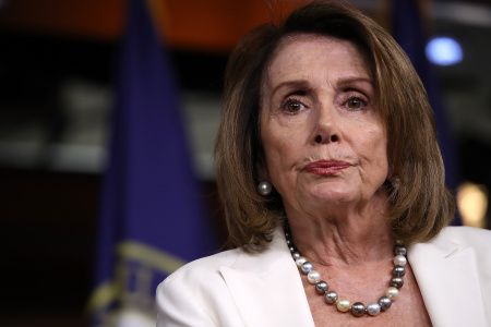 Nancy Pelosi Holds Weekly News Conference At The Capitol