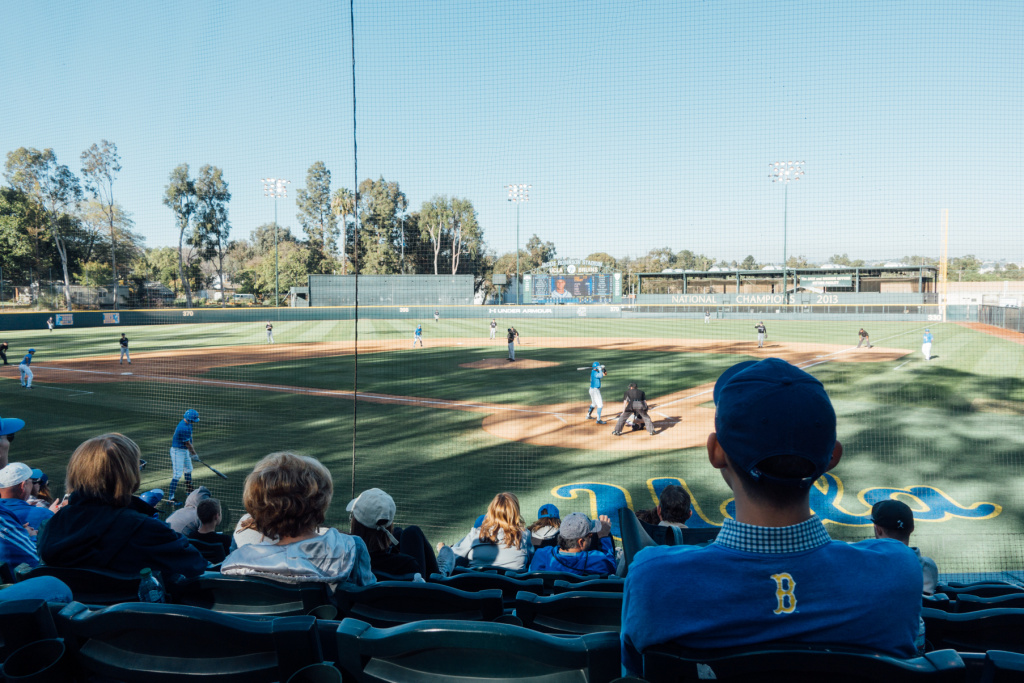 UCLA baseball plays at Jackie Robinson Stadium on the West LA VA campus. Veterans get into games for free.