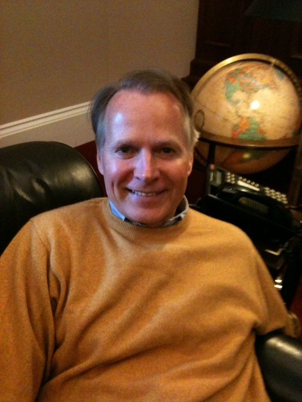 Congressman David Dreier relaxing before meeting of transition team.