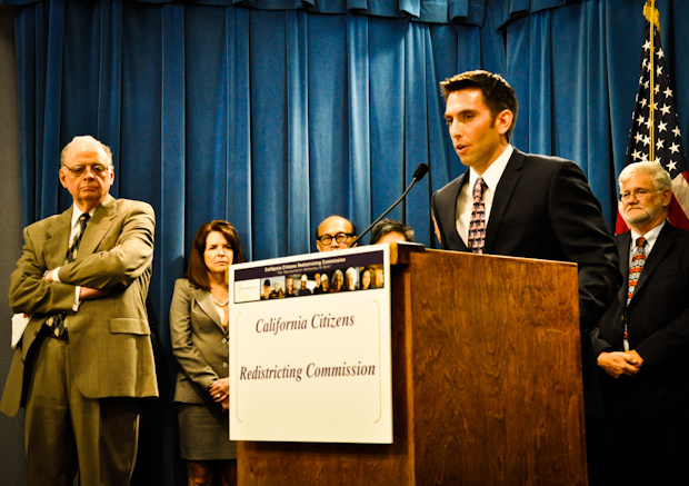 Republican Commissioner Mike Ward speaks in opposition to the California Redistricting Commission.