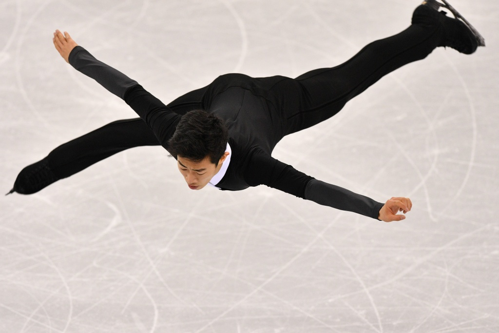 Team USA's Nathan Chen competes in the men's single skating free skating of the figure skating event during the Pyeongchang 2018 Winter Olympic Games on February 17, 2018.
