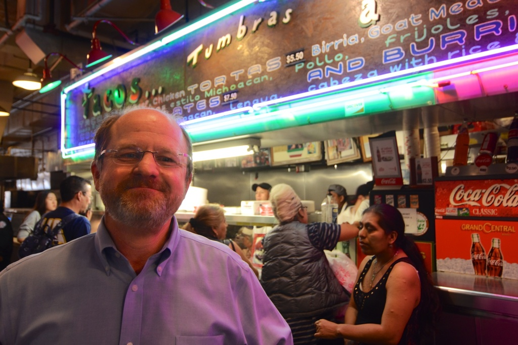LA Times food editor Russ Parsons at Grand Central Market in Downtown Los Angeles