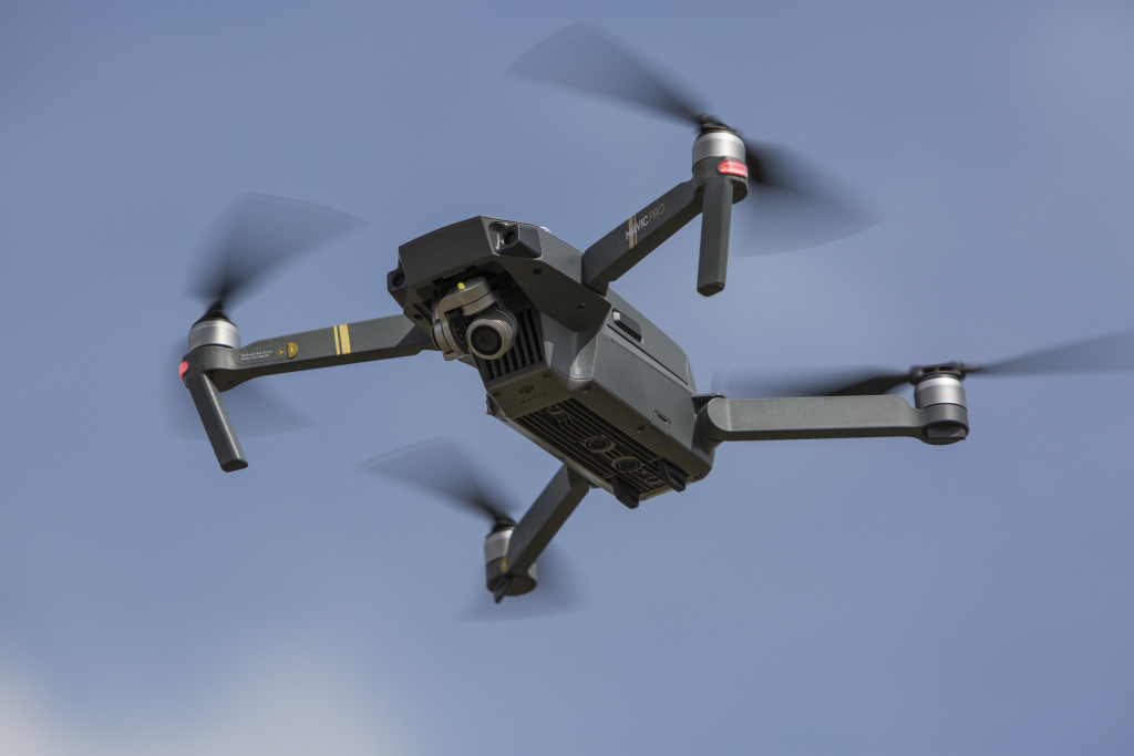 In this file photo, a DJI Mavic Pro Quadcopter drone is seen on flight at the Dronemasters 2017 convention on September 3, 2017 in Berlin, Germany. The L.A. Police Department revealed its proposed guidelines for drone use on Tuesday.