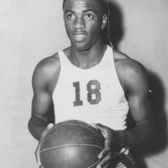 After transferring to UCLA from Pasadena Junior College, Jackie Robinson showed his versatility by becoming the Bruins' only four-sport letterman--in football, basketball, track and field, and baseball. Photo dated: March 19, 1940.
