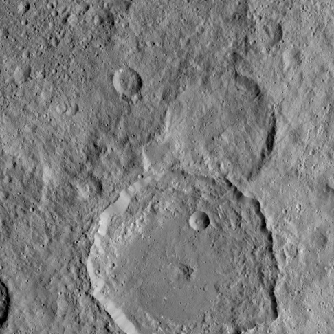 NASA's Dawn spacecraft spotted this tall, conical mountain on Ceres from a distance of 915 miles (1,470 kilometers). The mountain, located in the southern hemisphere, stands 4 miles (6 kilometers) high. Its perimeter is sharply defined, with almost no accumulated debris at the base of the brightly streaked slope. The image was taken on August 19, 2015. The resolution of the image is 450 feet (140 meters) per pixel.