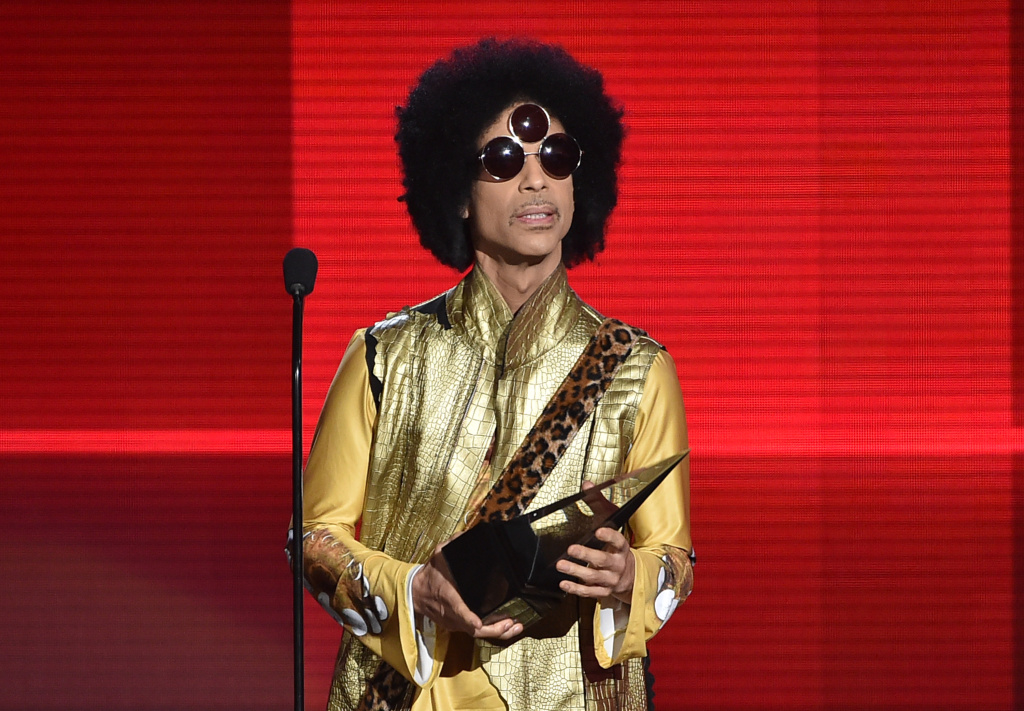 File: Prince speaks onstage during the 2015 American Music Awards at the Microsoft Theater on Nov. 22, 2015 in Los Angeles.