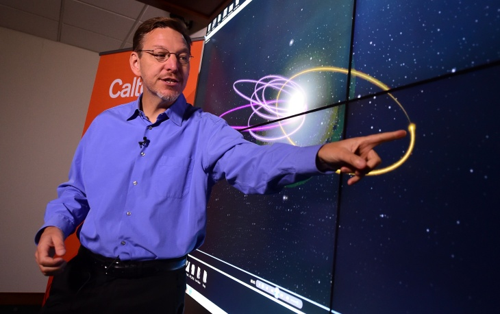 Caltech astronomer Mike Brown points out the