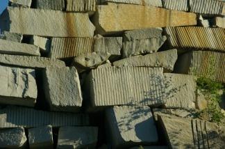 Blocks of granite.