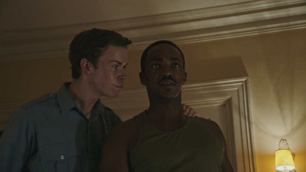 "Will Poulter and Anthony Mackie in ""Detroit."""