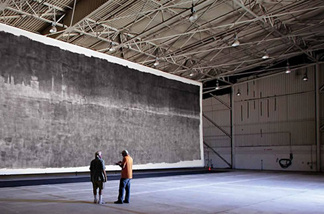 """The Great Picture,"" created by building a giant camera obscura in a jet hangar."