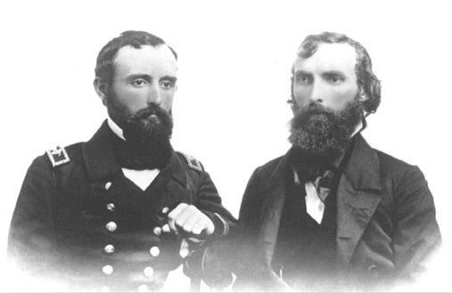 Developer Andrew Glassell (right) with his brother, William T. Glassell. William was a soldier in the confederate army and Great Uncle to George S. Patton, the famous US Army General.