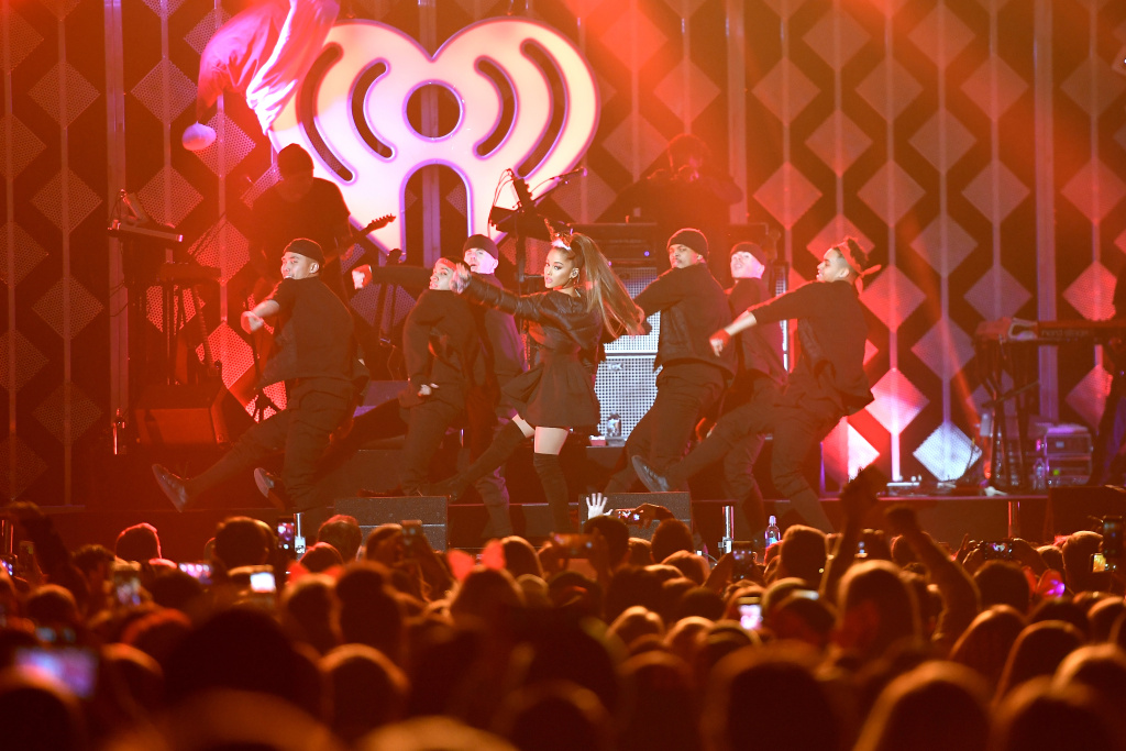 Ariana Grande performs onstage during Power 96.1's Jingle Ball 2016 at Philips Arena on December 16, 2016 in Atlanta, Georgia.