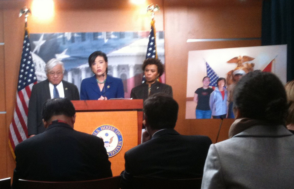 Rep. Judy Chu calls for congressional hearings on military hazing, Feb. 2, 2012.