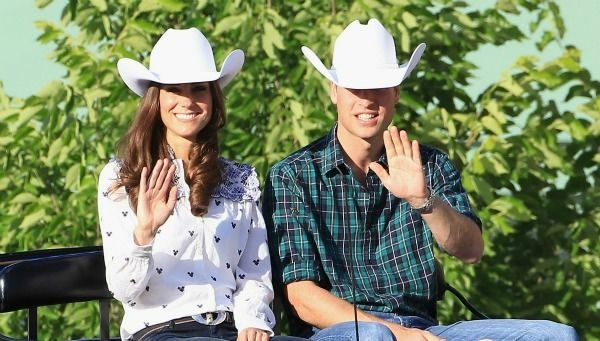 Catherine, Duchess of Cambridge and Prince William, Duke of Cambridge arrive on a horse drawn carriage at a Government Reception at the BMO Centre on July 7, 2011 in Calgary, Canada.