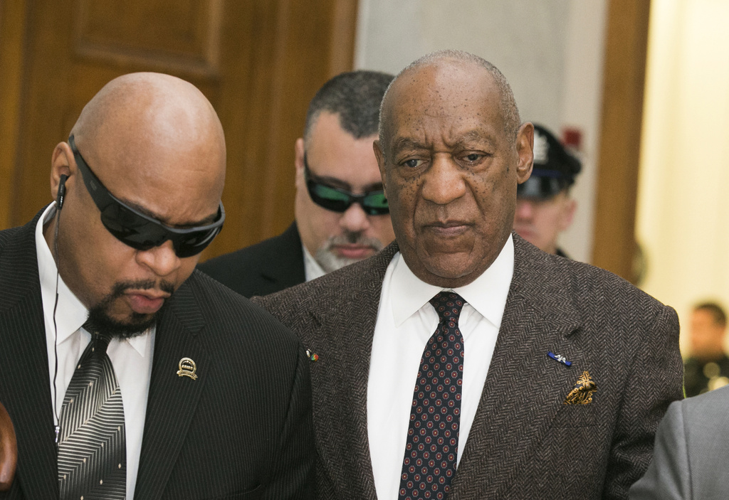 Bill Cosby arrives for the second day of hearings at the Montgomery County Courthouse February 3, 2016 in Norristown, Pennsylvania.