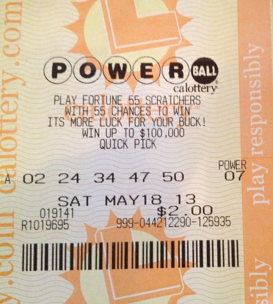 Ticket holders aren't the only ones who benefit from a win like the one expected in Wednesday's Powerball drawing, estimated at $425 million. Stores known for selling winning tickets also see their business pick up. (File photo: This was not the winning ticket in the $590 million May 19, 2013 Powerball lottery drawing).