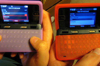 His and hers cell phones.