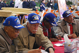 Seventeen Tuskegee Airmen will ride the West Covina float honoring the over 16,000 who served during World War II.