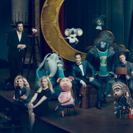 "The characters of ""SING"" next to their voice actors."
