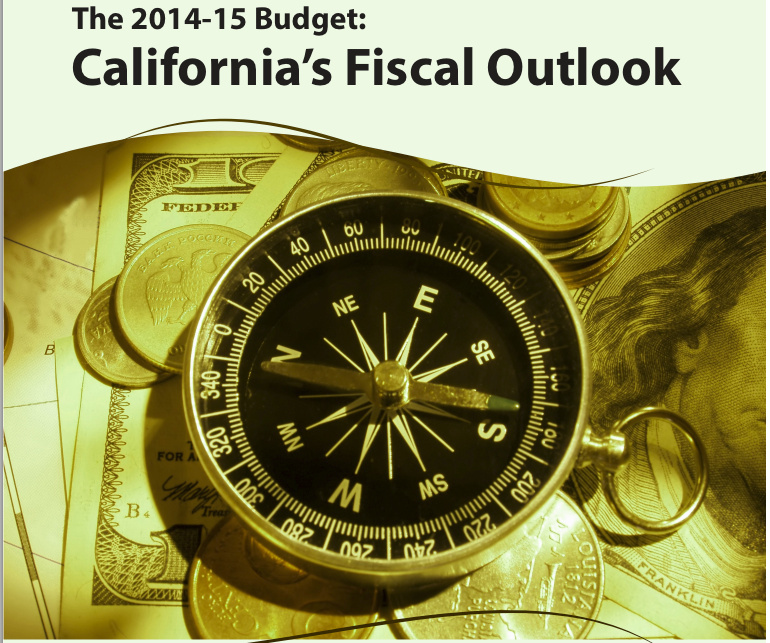 Cover of the CA State Legislator's Office's budget outlook for 2013-2014.