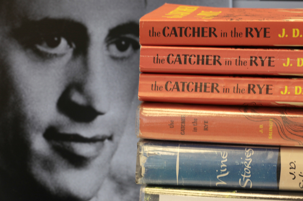 In this Jan. 28, 2010 file photo, copies of J.D. Salinger's classic novel