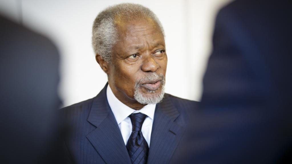 Former U.N. Secretary-General Kofi Annan, on March 03, 2018 in Berlin, Germany.