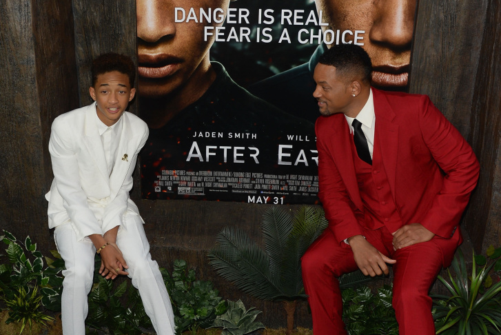 Actors Will Smith and Jaden Smith attend the 'After Earth' South Korea Premiere Time Square on May 7, 2013 in Seoul, South Korea.