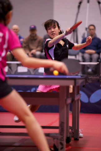 Arcadia resident Erica Wu plays table tennis