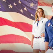 Polo Ralph Lauren has teamed up with the U.S. Olympic team to design several outfits for athletes, including these for the closing ceremony. Olympians (l-r) Haley Anderson, Ryan Lochte and Jordan Burroughs model the clothes.