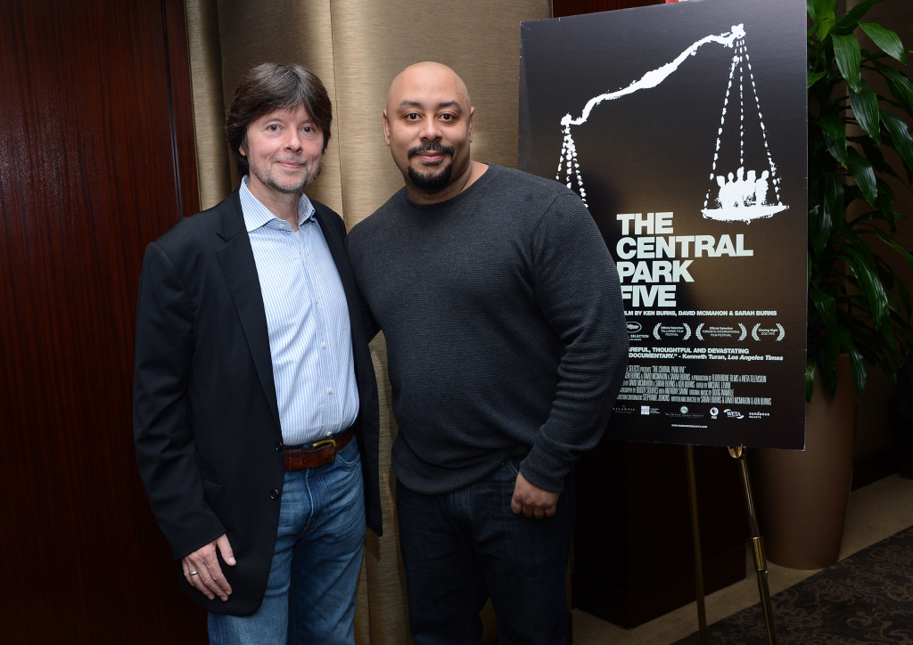 Ken Burns and Raymond Santana attend