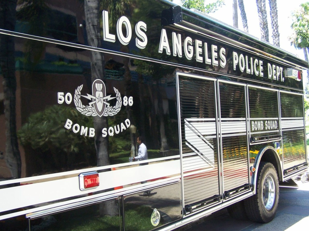 Stock image; an LAPD bomb squad vehicle.