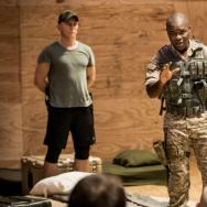 "Daniel Craig and David Oyelowo in Sam Gold's production of ""Othello."""