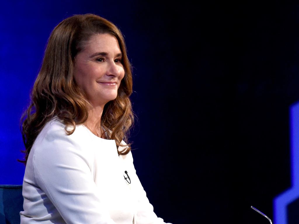 Melinda Gates speaks during Oprah's SuperSoul Conversations at PlayStation Theater on Feb. 5 in New York City.