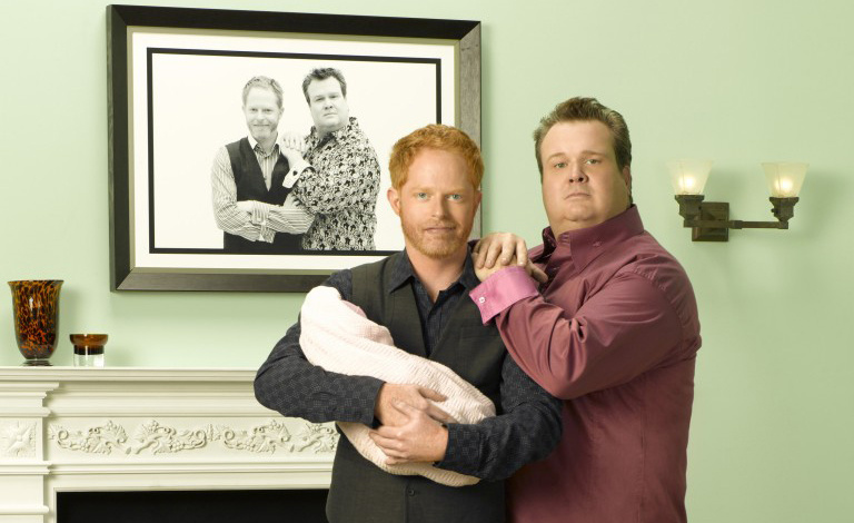 A promotional image of Mitch and Cam from ABC's Modern Family.