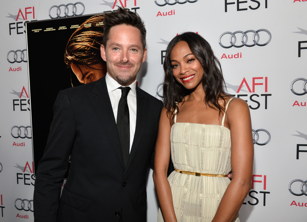 HOLLYWOOD, CA - NOVEMBER 09:  Director Scott Cooper and actress Zoe Saldana attend the screening of