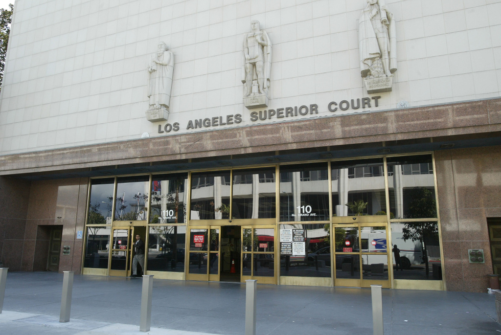 The Los Angeles Superior Court Stanley Mosk Courthouse in Los Angeles, California is seen on March 2, 2004.