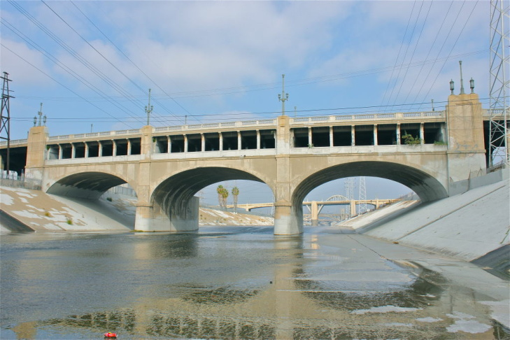 The 7th Street Bridge is actually 2 bridges built in 1910 and 1927 that are stacked on top of each other.