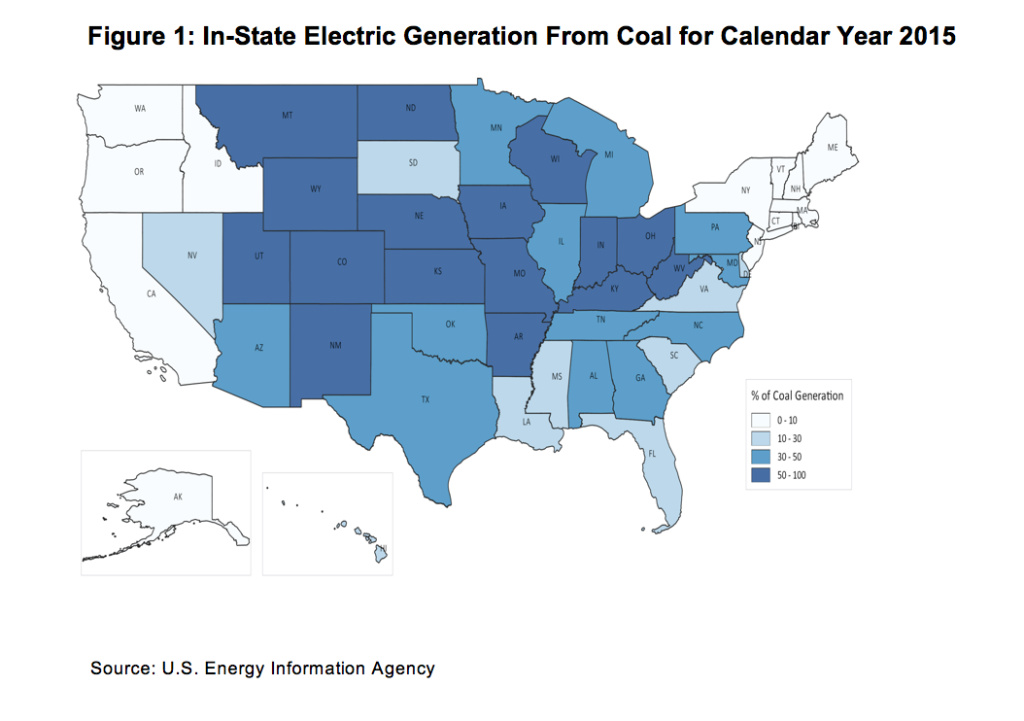 California gets just four percent of its electricity from coal -- far less than most other states.