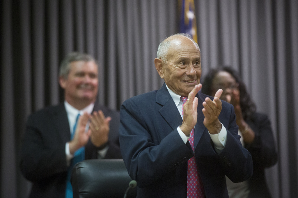 Superintendent Ramon Cortines takes part in LAUSD's Annual Board of Education Meeting on Wednesday, July 1, 2015 at LAUSD Headquarters.