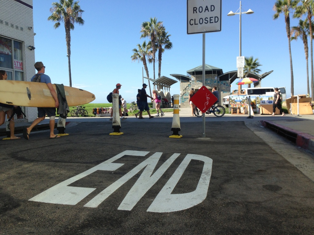 Police say temporary bollards at Ocean Front Walk in Venice have lowered the number of drivers turning onto the pedestrian-only area.