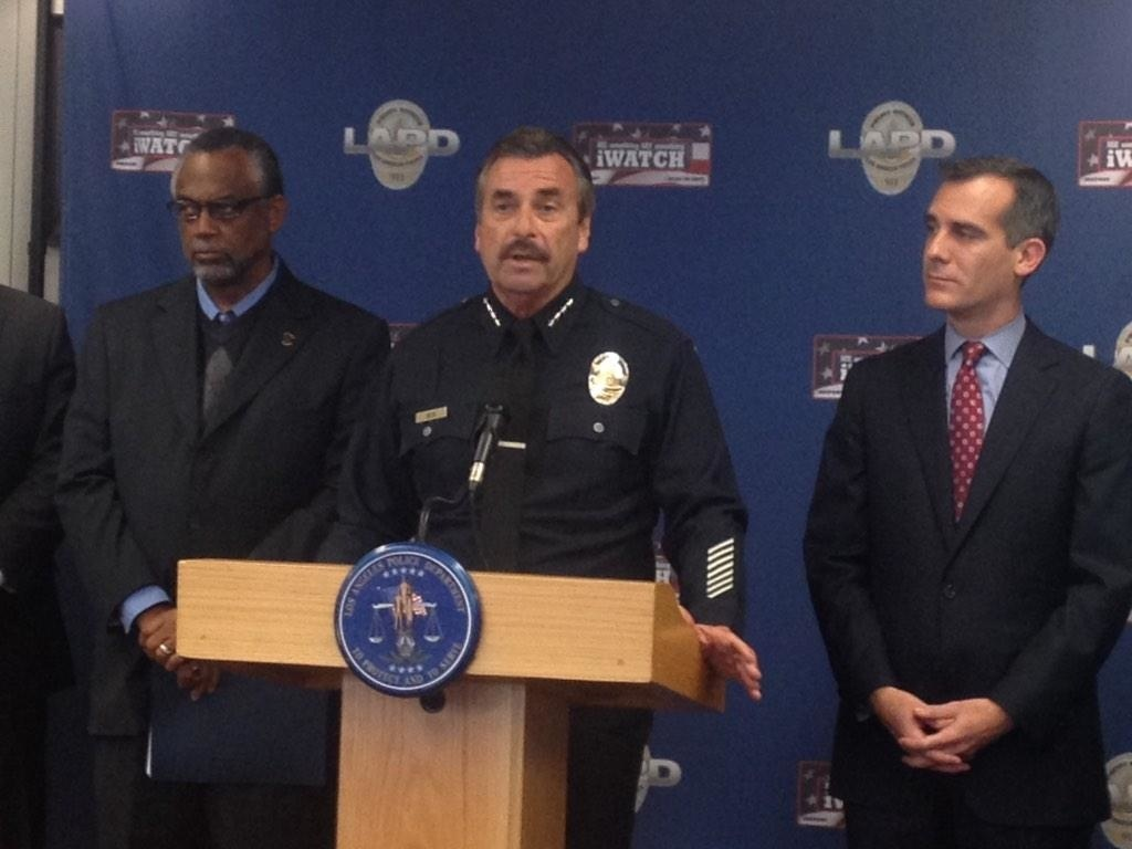 LAPD Chief Charlie Beck and Mayor Eric Garcetti ask for witnesses to Ezell Ford police shooting. None have come forward.
